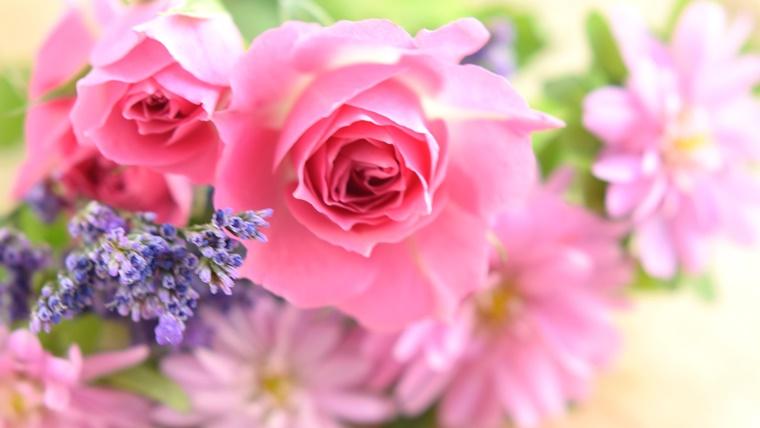 花キューピットの花束